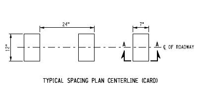 New York rumble strip specs for centerline