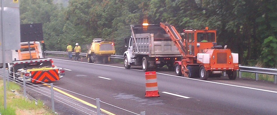 traffic control cutting rumble strips