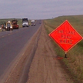 traffic control during rumble strips